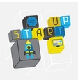 Start-up business concept in flat design style vector