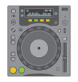 Dj cd player vector