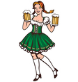 Beer girl vector