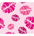 Lipstick kiss shape print seamless pattern vector