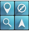 Flat icon set map marker for web and application vector