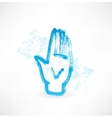 Human palm grunge icon vector