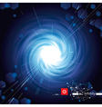 Vortex blue tech vector