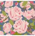 Vintage flowers seamless pattern vector