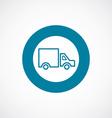 Truck icon bold blue circle border vector