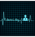 Heartbeat make doctors day text and symbol stock v vector