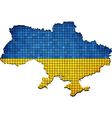 Ukraine map grunge mosaic vector