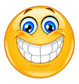 Big smile emoticon vector