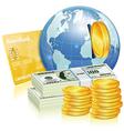 Global financial concept vector