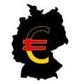 German currency vector