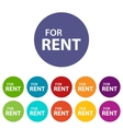 For rent flat icon vector