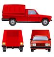 Tradesman's van vector