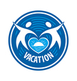 Logo people keep the heart of the sea and the sun vector