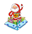 A view of santa claus vector