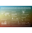 Transparent set of infographic elements vector