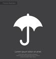 Umbrella premium icon white on dark background vector