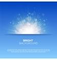 Shiny sun  sunbeams sunrays bokeh vector