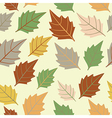 Seamless pattern with leafautumn leaf background vector