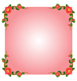 A pink empty border template with flowers vector