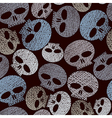 Skulls seamless pattern horror and hard rock theme vector
