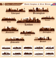 City skyline set 10 cities of great britain vector