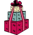 Stacked gift presents vector