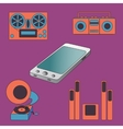 Many functions carries a modern mobile phone vector