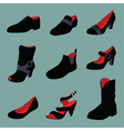 Various shoes collection vector