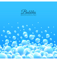 Bubbles underwater background vector