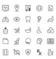 Set of outline stroke medical icons set 2 vector