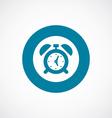 Alarm clock icon bold blue circle border vector