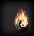 Burning pool ball vector
