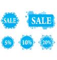 Winter christas new year sale labels set vector