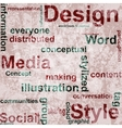 Word grunge collage on background vector