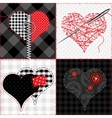 Quilt with hearts vector