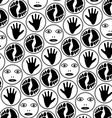 Feet hands and faces vector
