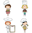 Cartoon female chefs vector