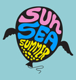 Sun sea summer - set 10 vector