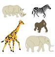 Safari animals vector