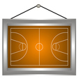 Basketball platform in a frame vector