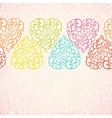 Seamless pattern with abstract doodle hearts vector
