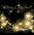 Black and golden christmas background vector