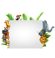 Funny wild african animal cartoon vector