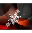 Abstract christmas wave snowflake background vector