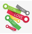 Social like tag cloud of stickers vector