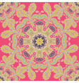 Abstract circle floral ornament lace pattern vector