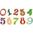 Set of cartoon number vector