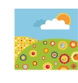 Colorful abstract spring meadow with flowers vector
