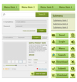Online shop flat design elements set vector