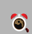 Clock and coffee part four vector